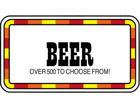 Hundreds of craft beers to choose from!